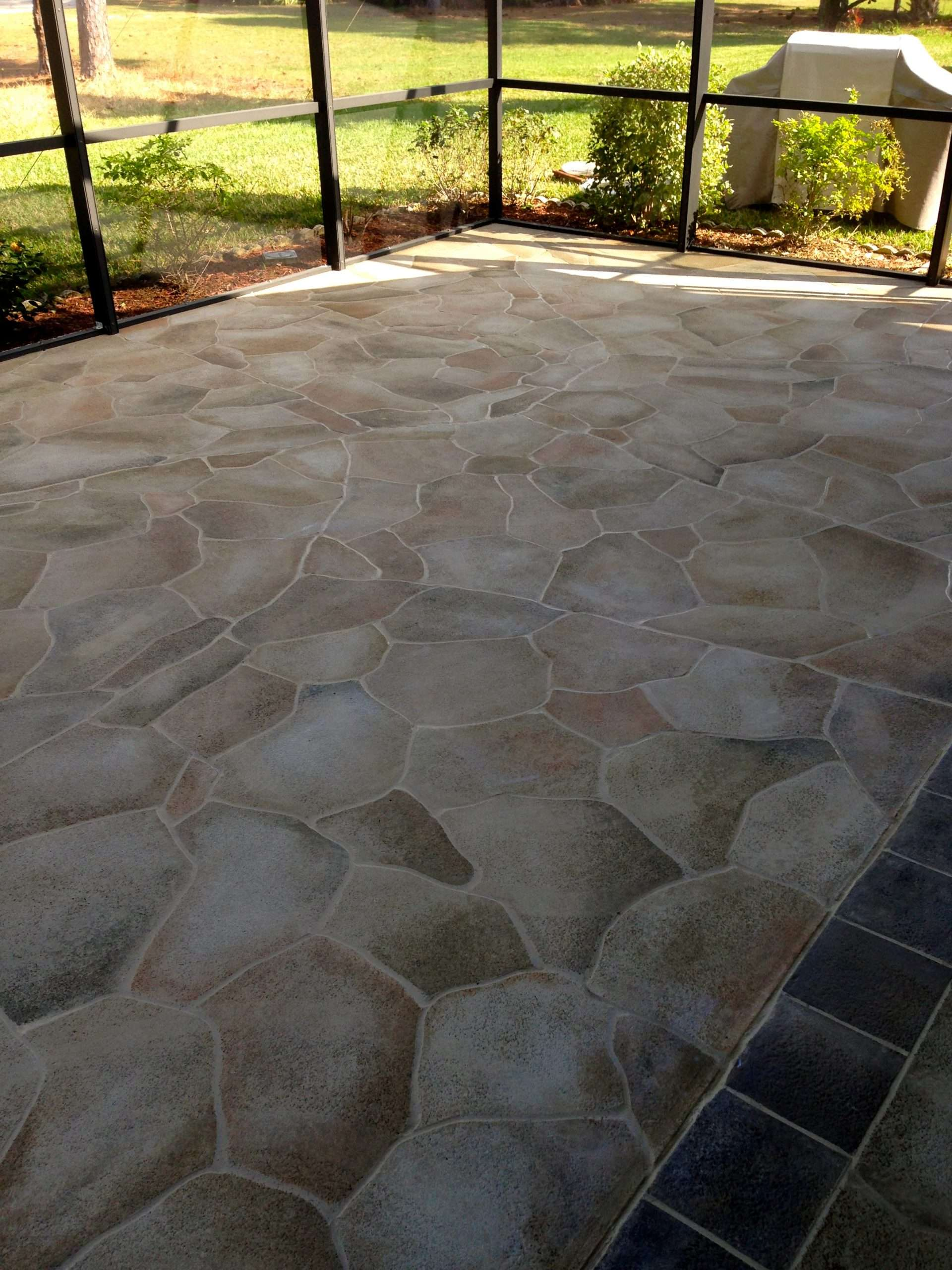 20 Ideas for Painted Concrete Patio