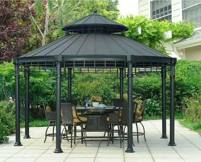 36 spectacular hardtop gazebo ideas round gazebo patio