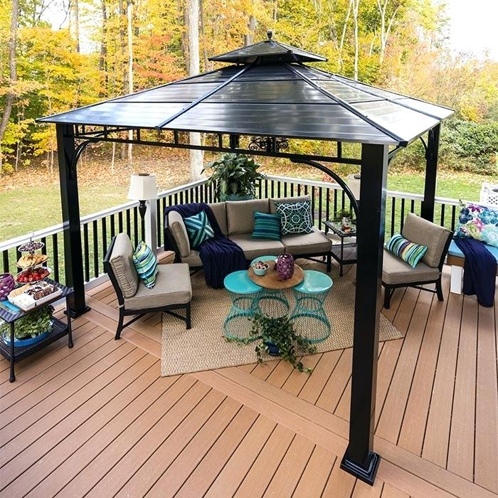 A Pergola On Composite Deck With Patio Furniture Adding ...