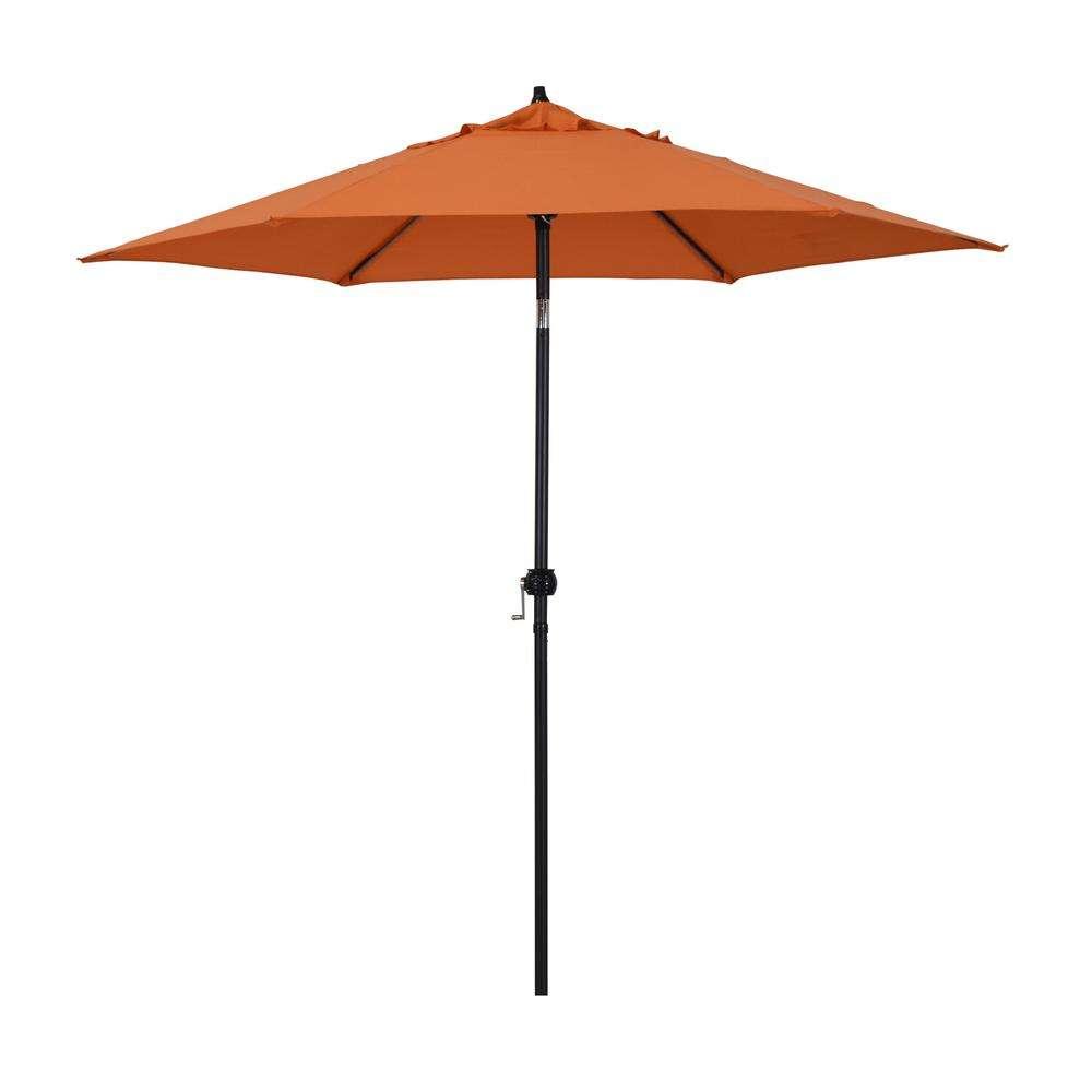 Astella 9 ft. Steel Market Push Tilt Patio Umbrella in ...