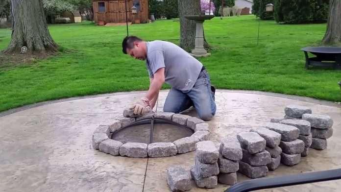 build a concrete patio firepit for 100 bucks youtube