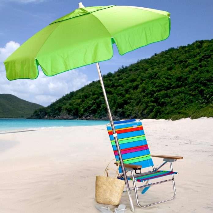 destinationgear 6 ft aluminum classic beach umbrella