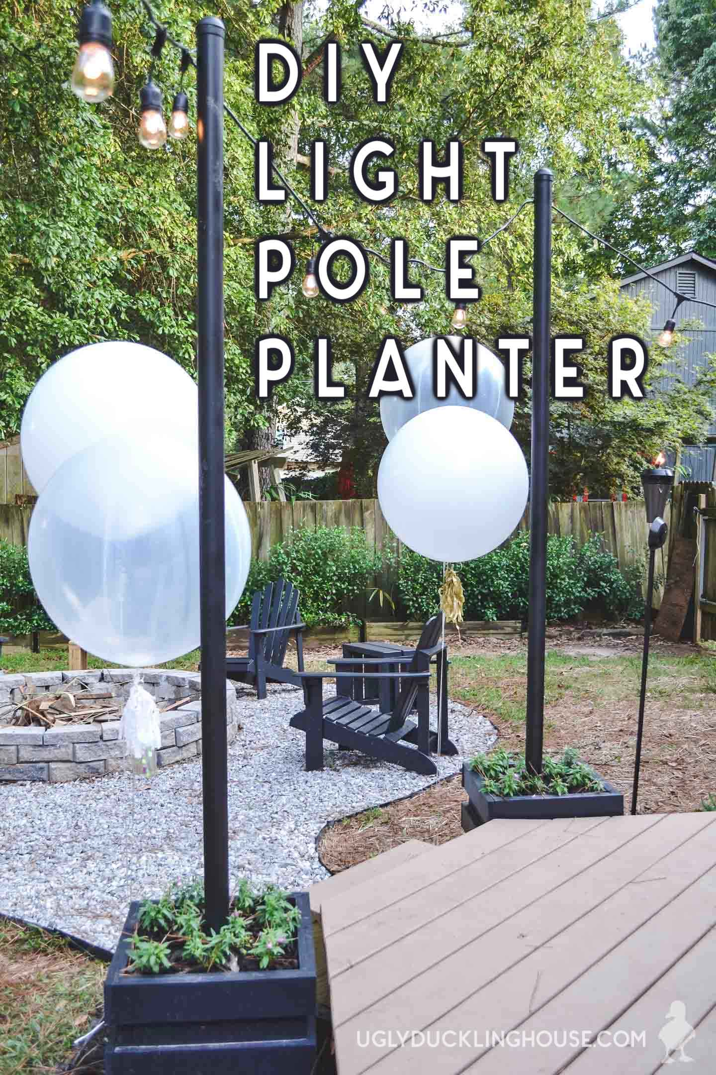 DIY Outdoor Light Pole Planters  Free Plans  Ugly ...