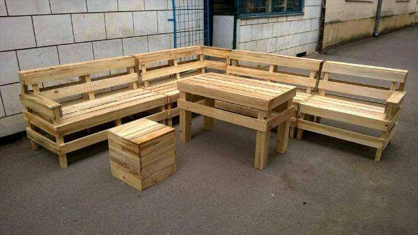 DIY Pallet Patio or Outdoor Furniture Set – 101 Pallets