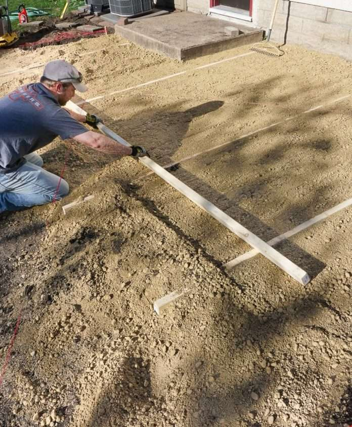 doing it right how to lay a level brick paver patio in