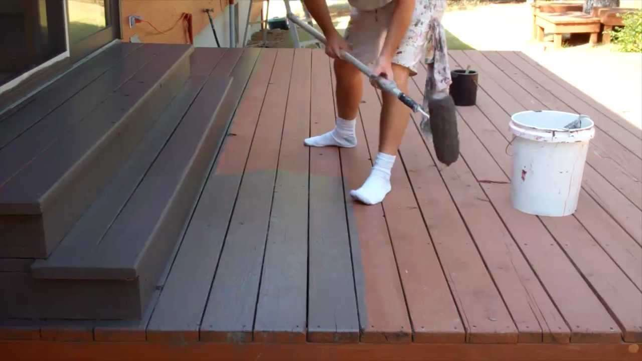 Exterior Painting Step 9: Staining the Deck