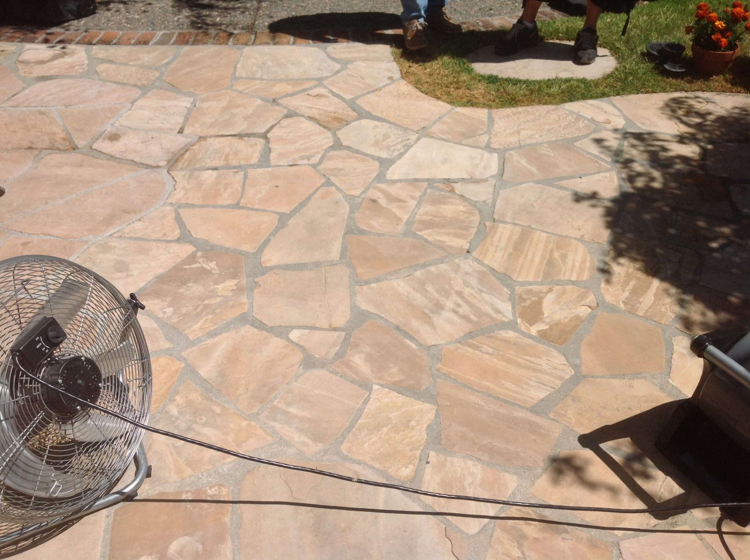 Flagstone Patio Cleaning &  Natural Stone Refinishing in ...