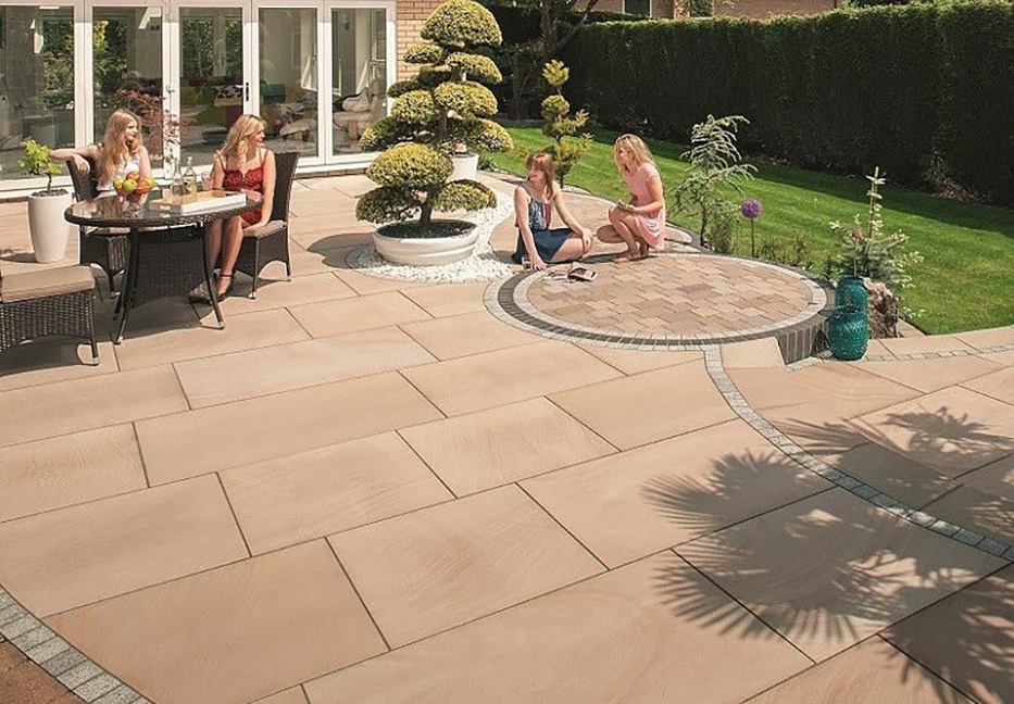 Free patio laying patterns for garden paving slabs ...