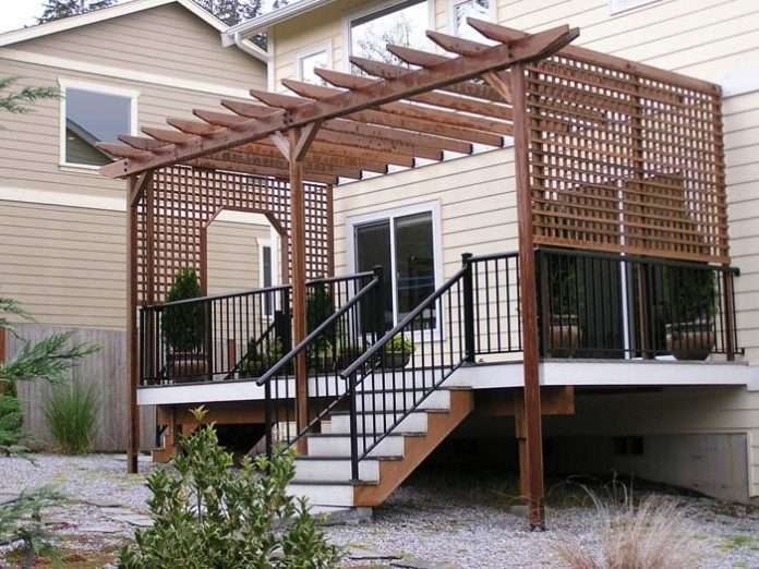 how to build a pergola on an existing deck google