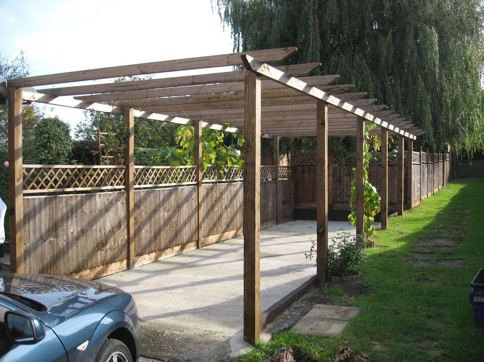 How To Build A Pitched Pergola Wooden Plans Do It Yourself ...