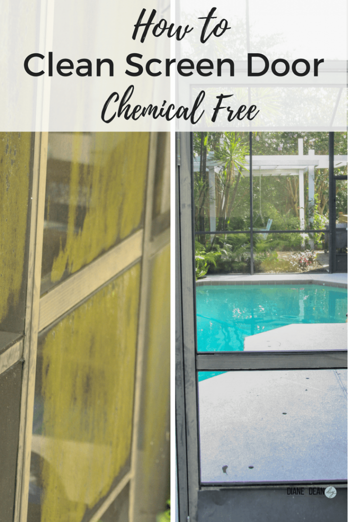 how to clean your patio screen door chemical free remove