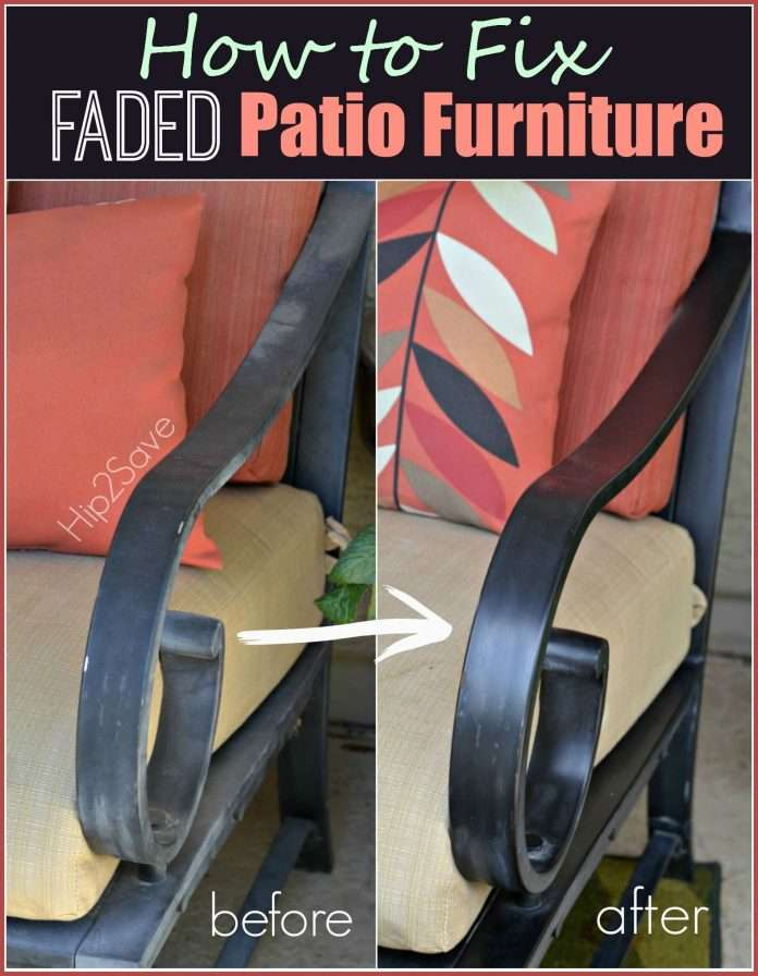 how to fix faded aluminum patio furniture using just one
