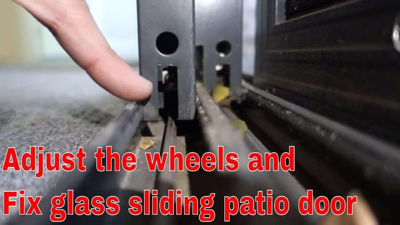 How to fix glass sliding glass patio door