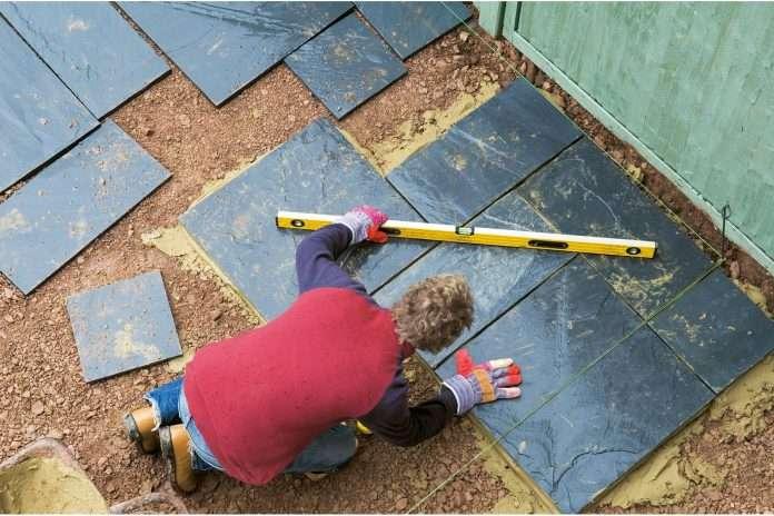 how to lay a garden patio laying a patio garden slabs