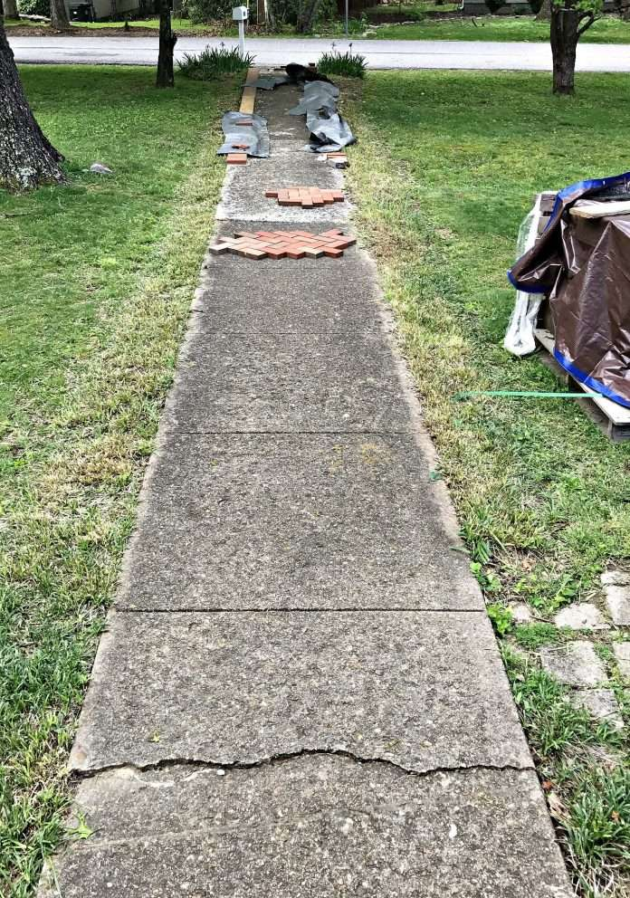 how to lay bricks over concrete patio tcworks org