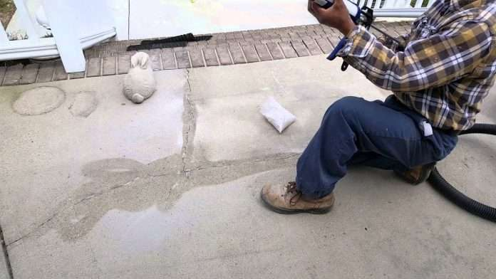 how to repair cracks in concrete patio and deck youtube
