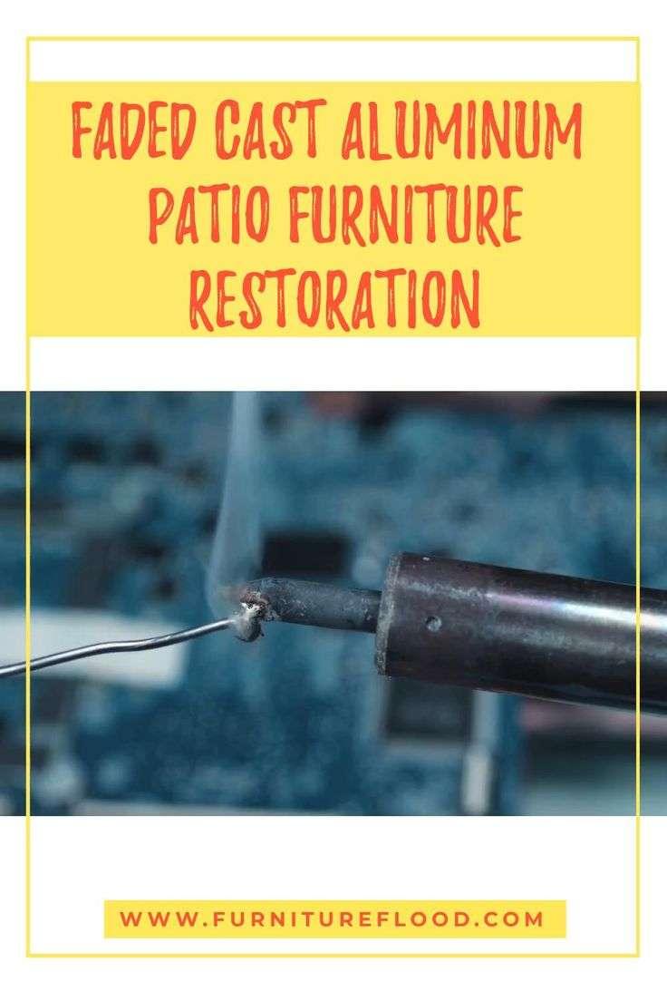 How to restore faded cast aluminum patio furniture [Video ...