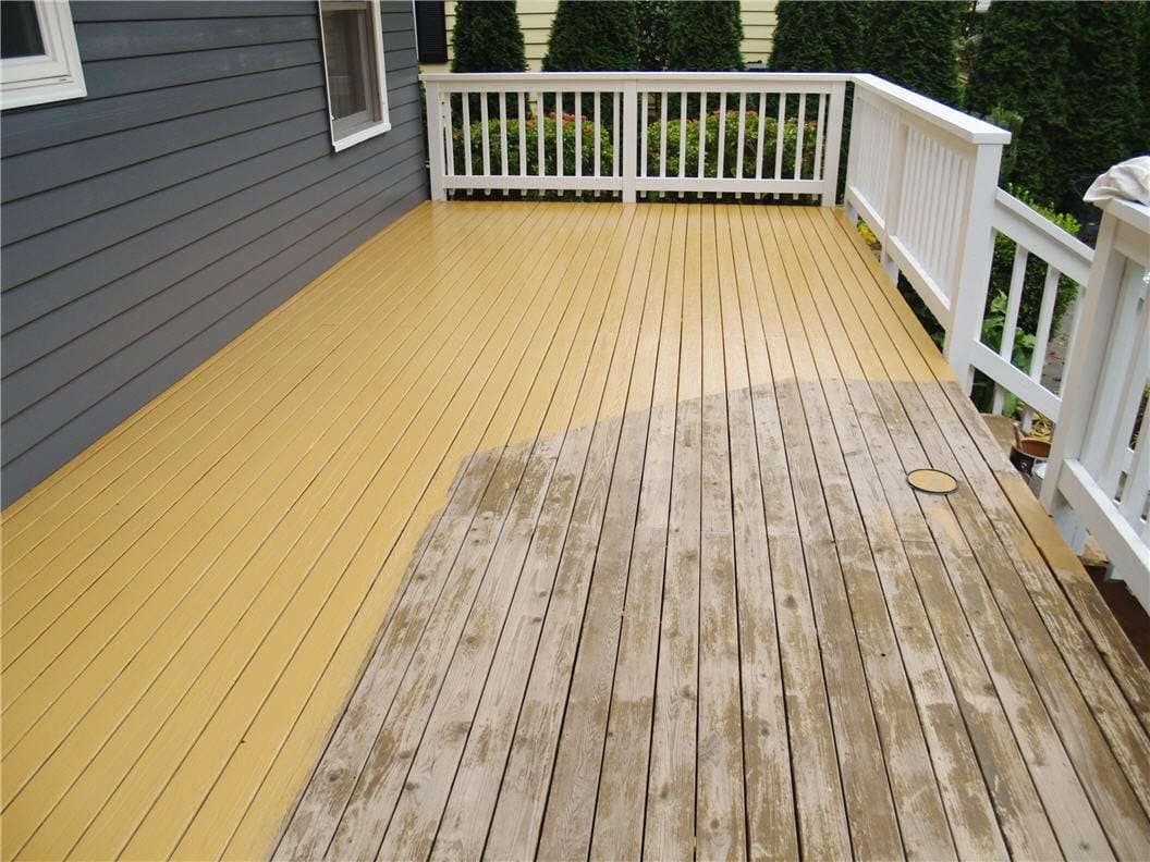 How to Stain a Deck Tutorial & Cost Guide