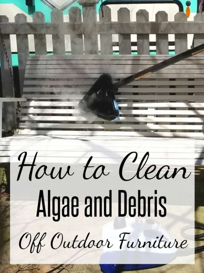 how to steam away green algae on outdoor furniture used