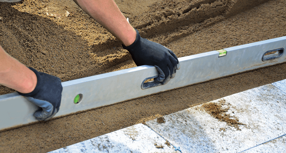 Leveling the Ground for your Paver Patio