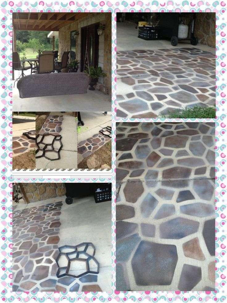 spray paint concrete floor