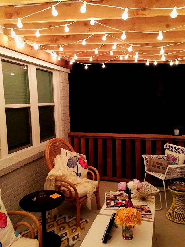 The Best Outdoor Patio String Lights + Patio Reveal ...