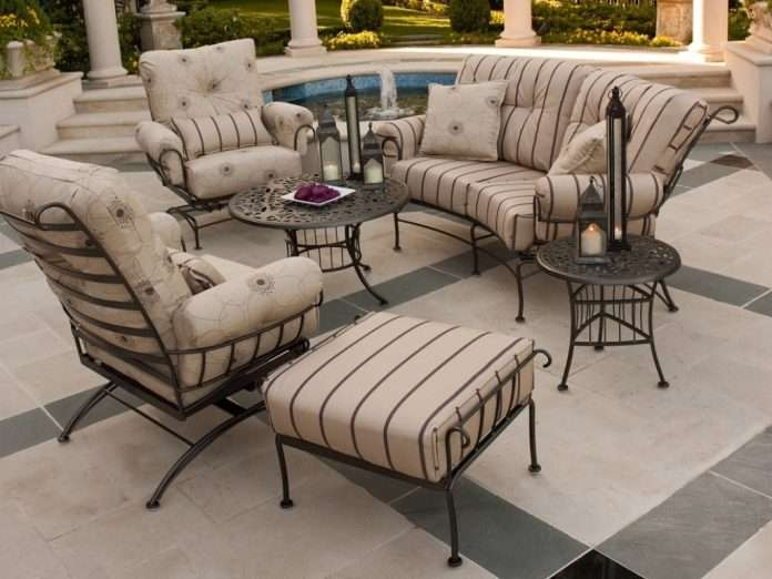 wrought iron patio furniture sets covers belezaa